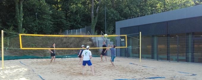 Volleyball auf dem PSV-Beach