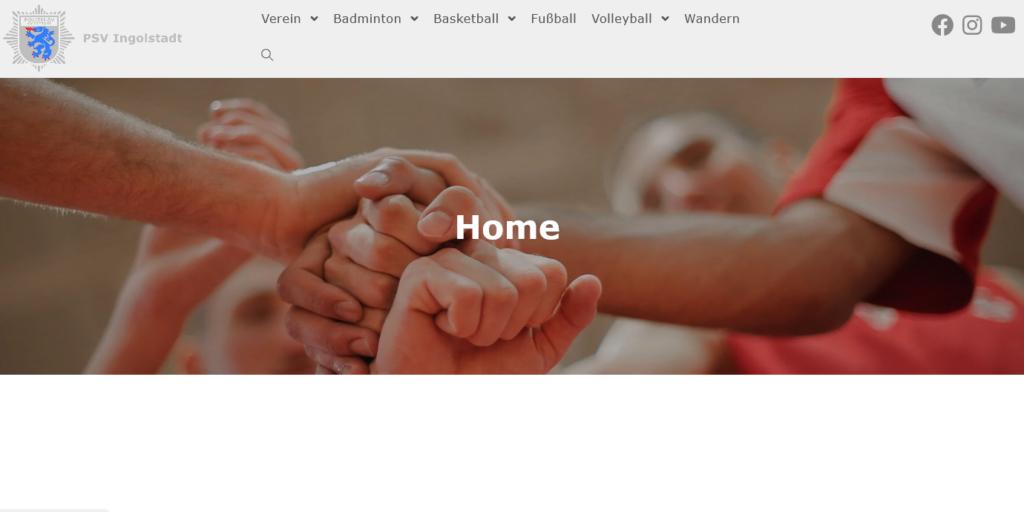 Neue PSV Homepage